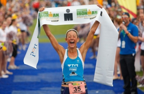 "Chrissie's all ""Just won another ironman, NBD."""