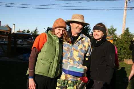 This is one of the 5Ks that I helped organize. You will see why my dad is dressed like that in the story! IT WAS FREEZING. (L-R Me, Papa Held, and my older sister)