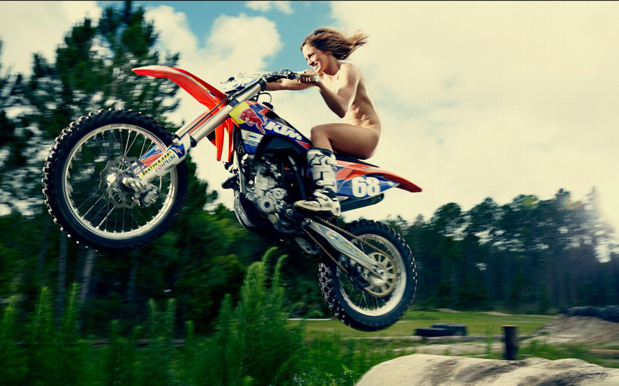 Female dirtbike riders naked
