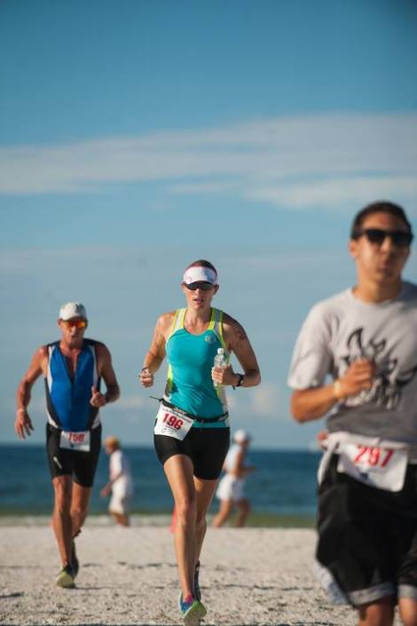 Crushing male egos with every mile I run. (Photo: Sarasota Herald Tribune)