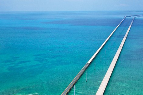 The Seven Mile Bridge in the Florida Keys.