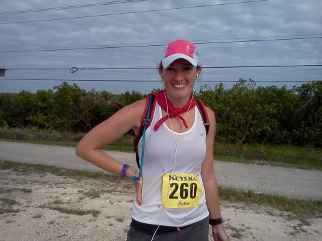 """A little over a half-marathon left to go, and yes, this was maybe the first and only time in my life where my brain was like, """"Only a half-marathon left to run!"""""""