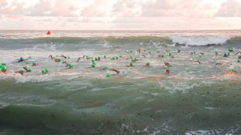 This was the actual swim start.