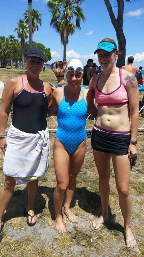 My friend/teammate Lisa and I with Mirinda Carfrae!